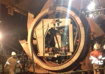 Preventiva da roda caçamba – Blend Reclaimer