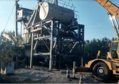 Reparo na JIB no Pátio de Carvão