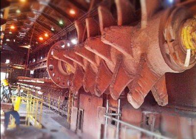Troca de rotor do britador primário da máquina de Sinter.